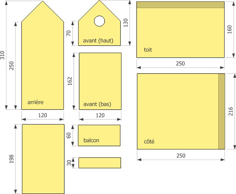 Plans de nichoirs multi sp cifiques 2 - Fabriquer un nichoir pour oiseaux facile ...