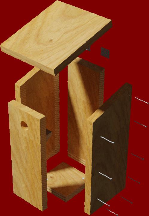 montage du nichoir boîte à letrres