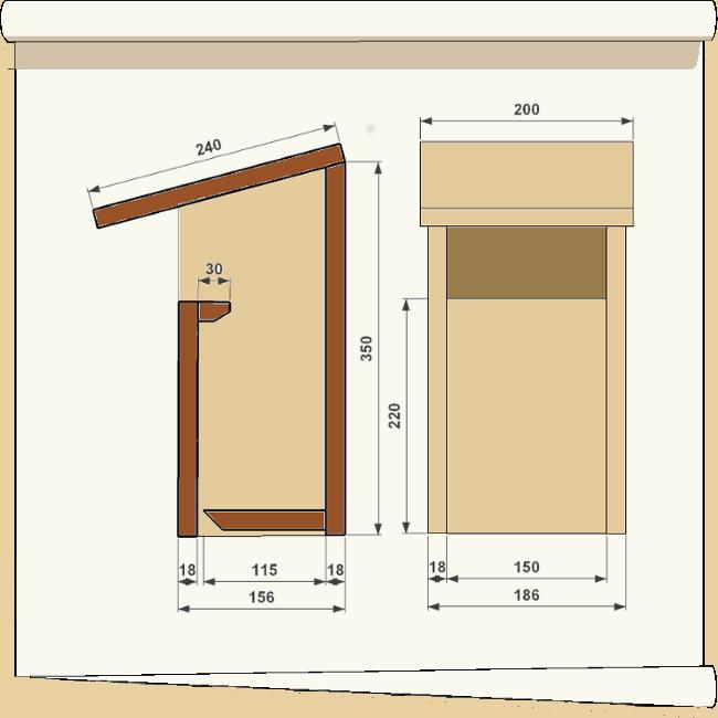 nichoir pour oiseaux Ouvert2