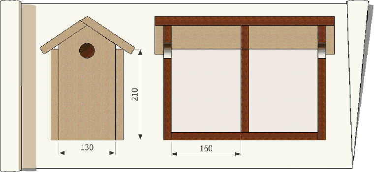 nichoirs pour moineaux. Black Bedroom Furniture Sets. Home Design Ideas
