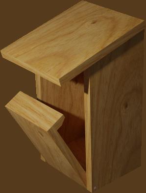 nichoir pour oiseaux Semi_ouvert2